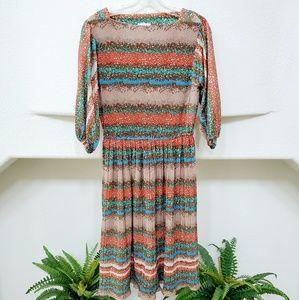 Dresses & Skirts - Vintage Multi-Color Midi Dress